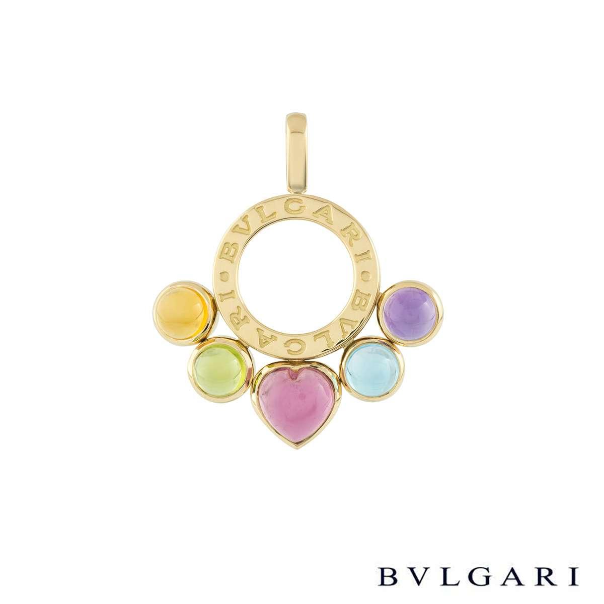 Bvlgari Yellow Gold Multi-Gemstone Allegra Pendant